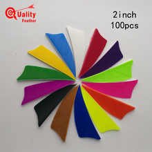New 100pcs  2 Shield Cut Fletchings Arrow Feathers Turkey Feather Archery Accessories Handcraft Fletches