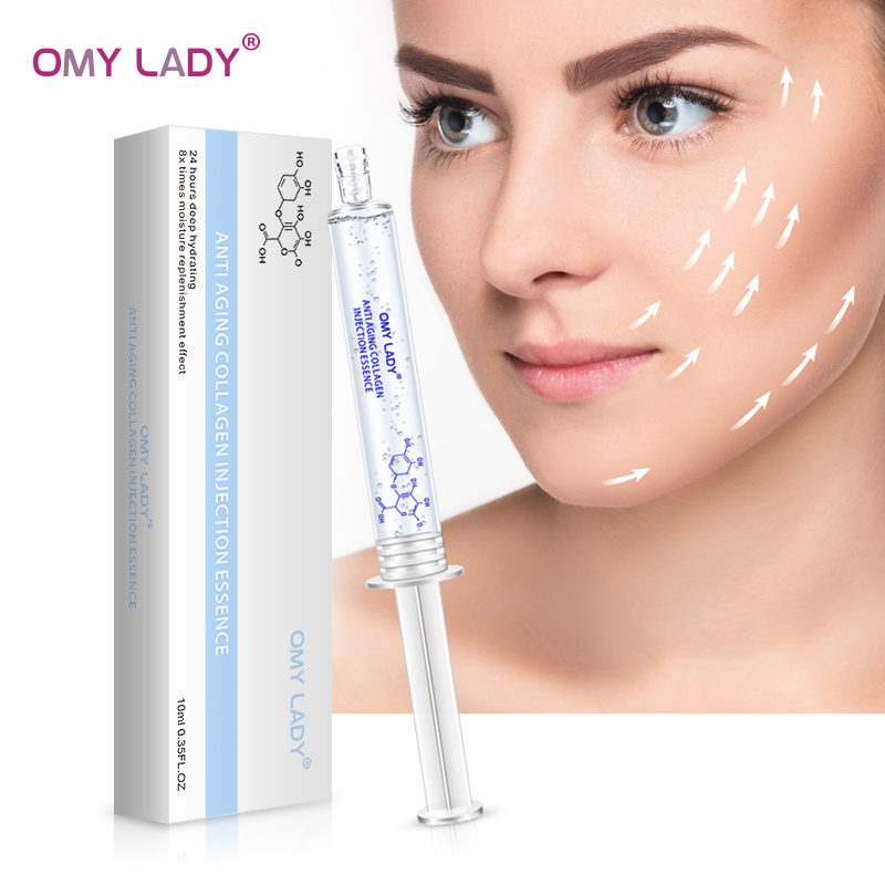 OMY LADY Anti Aging Collagen  Essence Deep Moisturizing  Facial Serum Hydra Shrink Pores Whitening Hyaluronic Acid 10ml