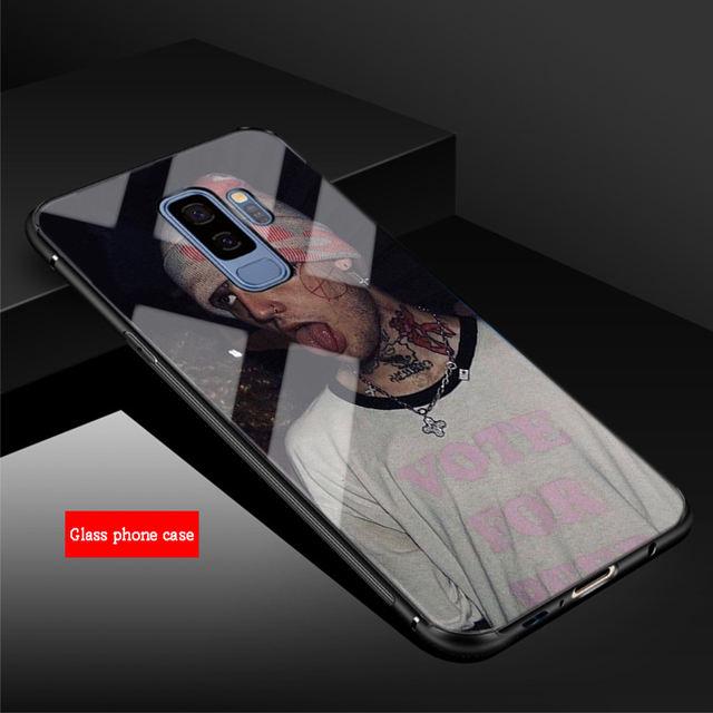 LIL PEEP TEMPERED GLASS SAMSUNG PHONE CASE (12 VARIAN)
