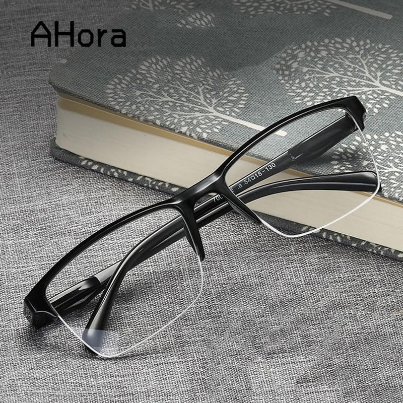 Ahora occhiali da lettura quadrati ultraleggeri a mezza montatura occhiali presbiti uomo donna 0.25 0.5 0.75 1 1.25 1.5 2 1.75 2.25 3 1