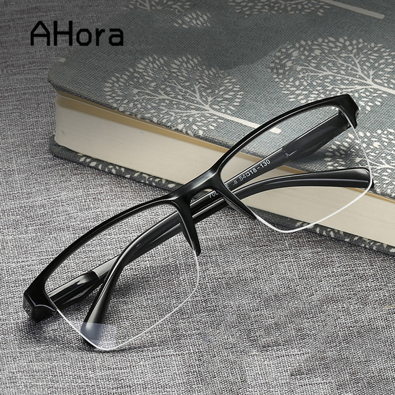 Ahora Ultralight Square Half Frame Reading Glasses Presbyopic Glasses Men Women +0.25 0.5 0.75 1 1.25 1.5 1.75 2 2.25 2.5 2.75 3