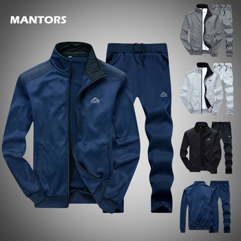 Spring Men Tracksuits Solid Color Sportswear Autumn Men's Sets  1