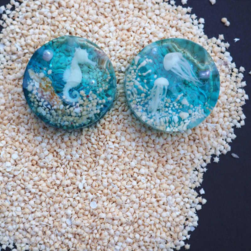 1 กล่อง Beach เปลือกหอยธรรมชาติปลาดาวทรายสำหรับเรซิน UV Fillings กรอบเครื่องประดับ DIY ทำ
