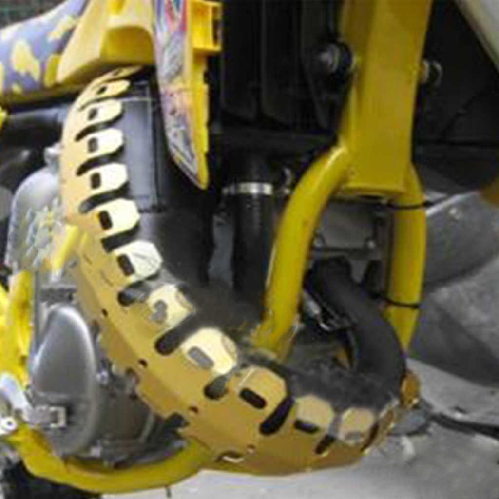 Universal 25 cm silenciador do escape da motocicleta, anti calor de alumínio quente escudo capa tubo perna protetor ótimo para yamaha 25.2x8.7 cm