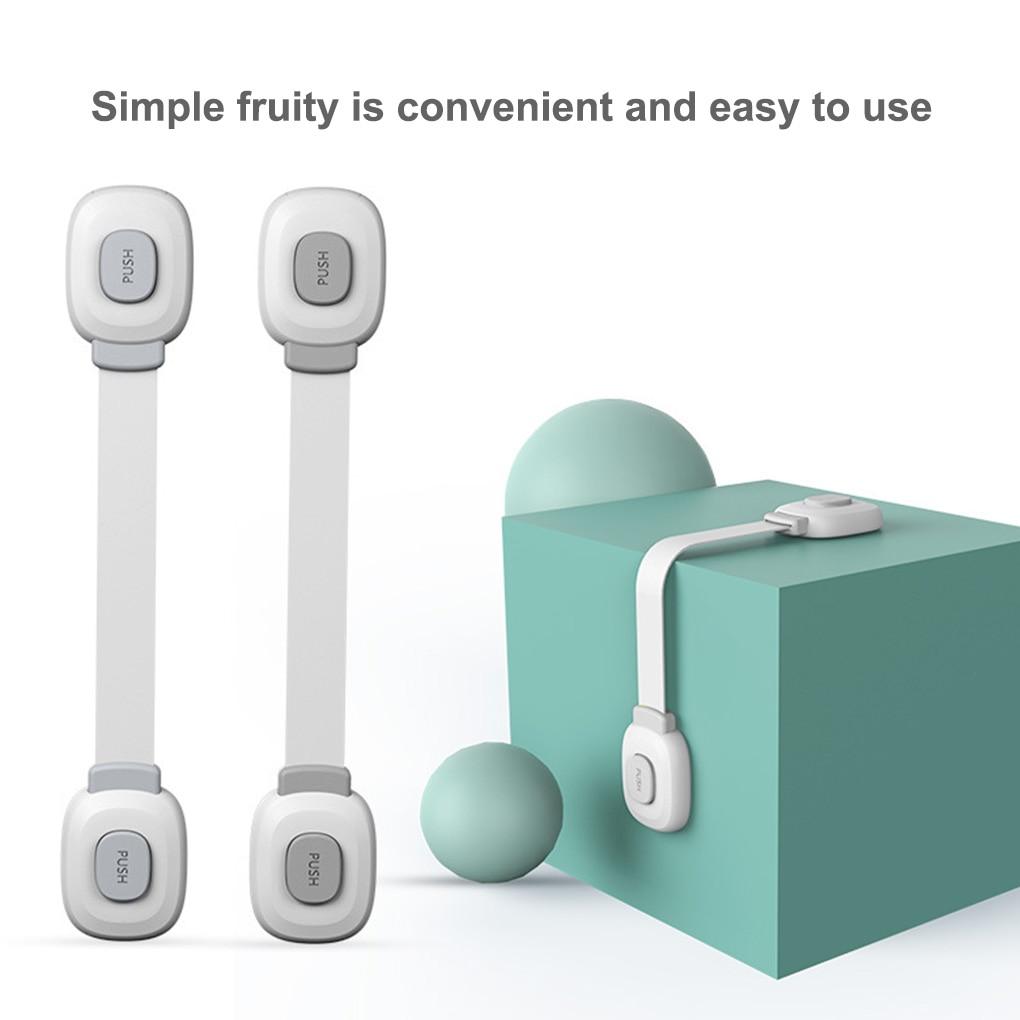 6Pcs Baby Safety Lock Child Protective Drawer Supplies Anti-Pinch Hand Refrigerator Cabinet Door Lock