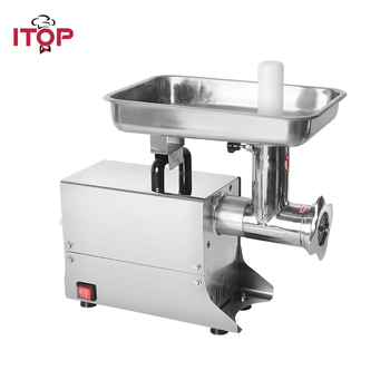 ITOP Commercial ELectric Meat Grinder Stainless Steel Meat Mincer Food Chopper Heavy Duty Food Processors Machine itop home electric meat grinder multifunctional meat mincer vegetable chopper sausage filler stainless steel mincer maker 3 blad