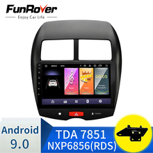 Radio coche navegación GPS precisa excelente reproductor bluetooth mp3 mp4 entrega rápida para Mitsubishi asx 10,1 pulgadas Android 9.0 2.5D