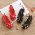Детские сандалии; Детские кожаные тапочки; Детская обувь; Винтажные тонкие туфли для девочек; Школьная обувь на плоской подошве