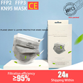 20 PCS /Box KN95 FFP2 Mask 5-layer Gray Plane CE Certification KN95 Mask Activated Carbon Dust Mask Mask Dust Disposable KN95