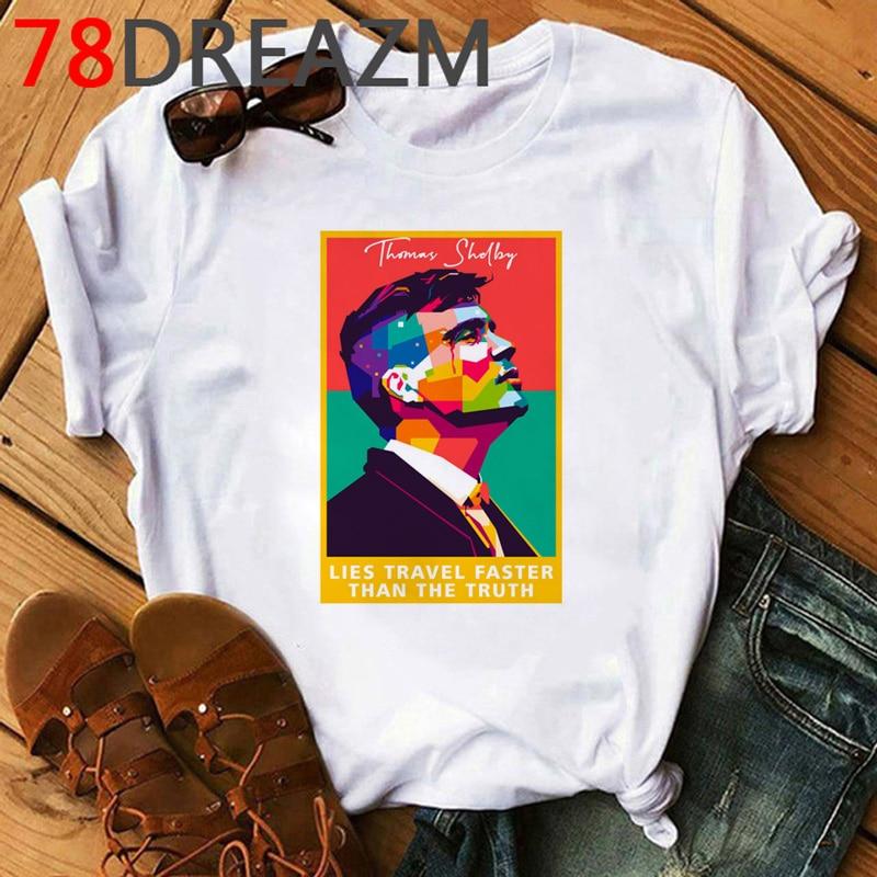 Peaky Blinders T Shirt Men Summer Top Hip Hop T-Shirt 2020 Cartoon Cool Streetwear Unisex 90s Fashion Graphic Top Tees Male