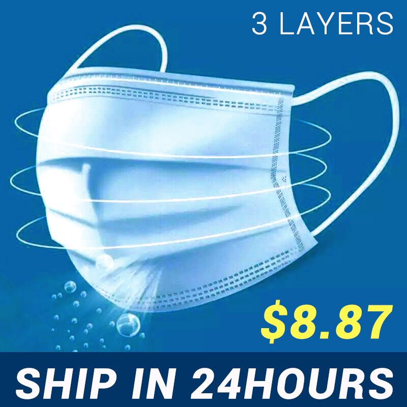 Protective  Masks   For Adults And Kids 3 Layers  Filtration Mask Facial Mouth Mask