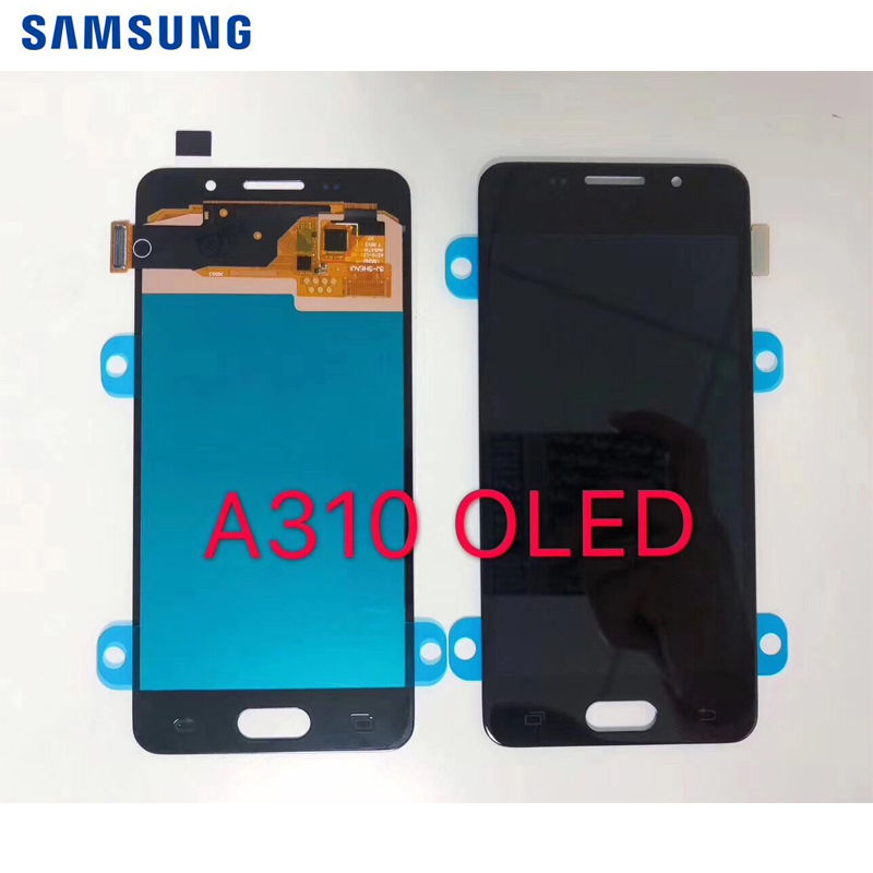 Original Super AMOLED For <font><b>Samsung</b></font> <font><b>Galaxy</b></font> <font><b>A3</b></font> 2016 A310 A310F A310H A310M A310Y <font><b>LCD</b></font> Display with Touch Screen Digitizer Assembly image