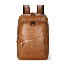 Мужской кожаный рюкзак, большой рюкзак для ноутбука, мужские Рюкзаки Mochilas, повседневная школьная сумка для подростков мальчиков, высокое качество, рюкзак