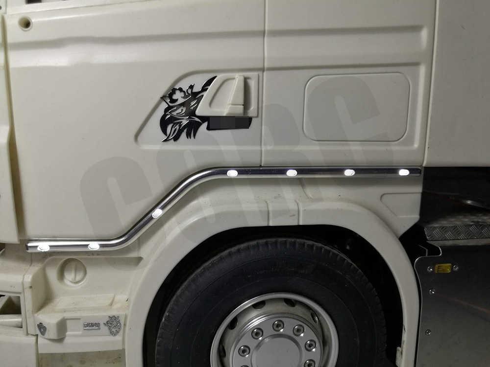 1 Paar Rc Model Cnc Aluminium Deur Side Led Light Voor 1/14 Tamiya Rc Truck Scania R620 56323 R730 r470