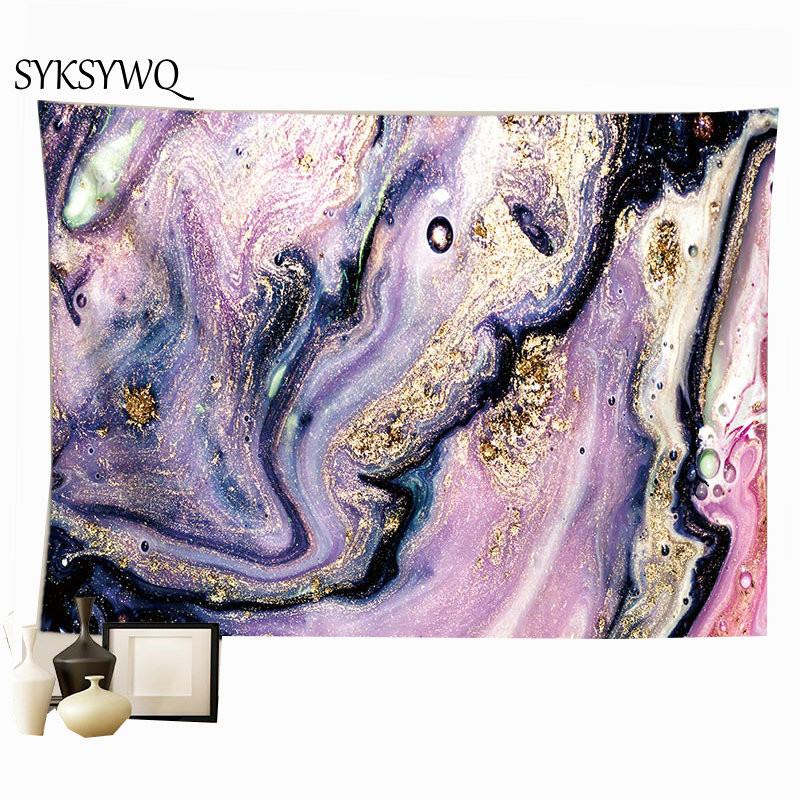 purple stone wall blanket dorm bedroom tapestry home decoration wall carpet tapisserie murale image