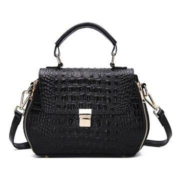 New Fashion Alligator Cow Genuine Leather Women Handbags Real Leather Ladies Shoulder Bag Female Girl Brand Luxury Crossbody Bag