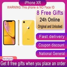 Odblokowany oryginalny Apple iPhone XR xr 6.1 cala bez twarzy ID NFC ROM 64GB/128GB/256GB Smartphone A11 iphonexr hexa-core Apple Pay