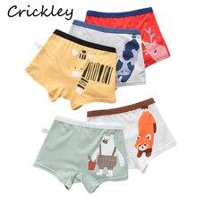 5Pcs/Lot Boys Boxer Cartoon Animal Pattern Briefs for Children Underwear Cotton Soft Solid 3-8Y Kids Thong Underpants Panties платье для девочек ac 2015 cloth 5pcs lot 3 8y xyh 25