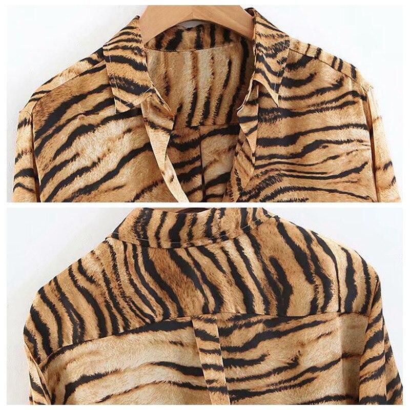 tiger print women blouse 2