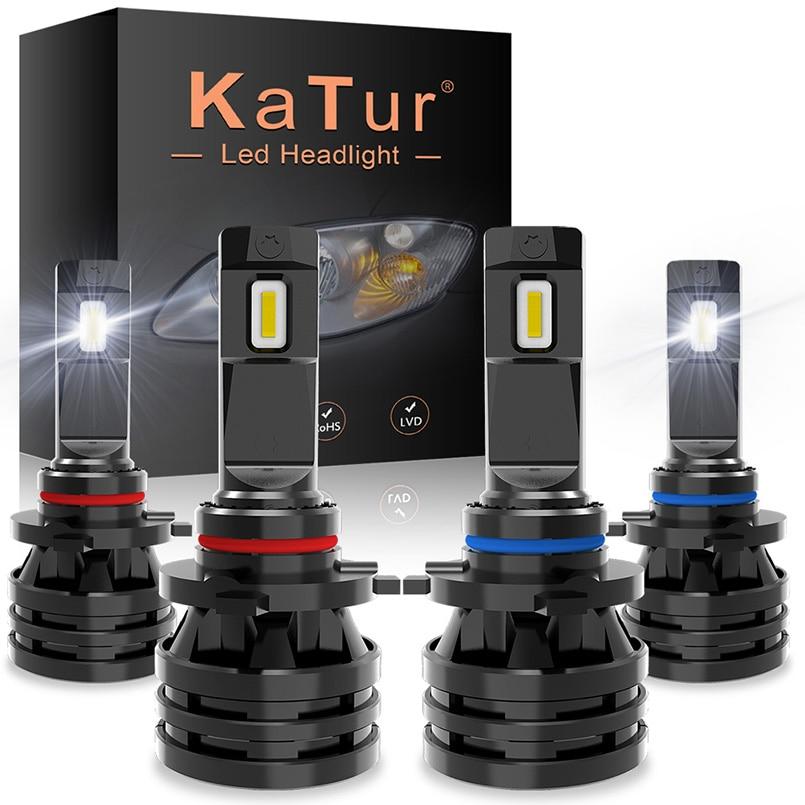 2 шт., Автомобильные светодиодные лампы 55 Вт H4 HB2 H7 H11 H16 9005 9006 HB3 BH4 H1 9012 H13 H3 9007 HB5