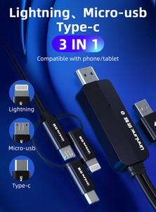 Image 3 - Unnlink USB a HDMI Specchio Cast Convertire Cavo con Audio MHL per il iPhone iPad Illuminazione Android Phone Mi Micro USB tipo C a HDMI