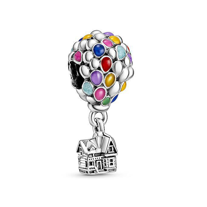 2020 New 925 Sterling Silver Perline Colorate Hot Air Balloon Camera di Volo Pendenti E Ciondoli Fit Originale Pandora Braccialetto Donne Gioielli FAI DA TE
