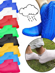 Shoes-Covers Overshoes Rain-Boots Environmental-Protection Anti-Skid Elastic Waterproof