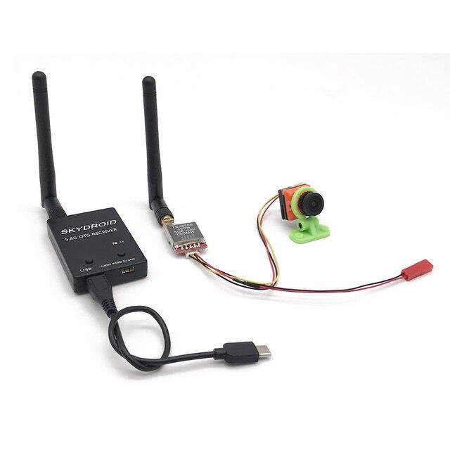 Gotowy do użycia 5.8G FPV UVC odbiornik wideo Downlink OTG VR telefon z systemem Android + 5.8G 200/600mw nadajnik TS5828 + CMOS 1500TVL kamera FPV