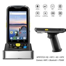 Android 6.0 Rugged PDA 4G Handheld POS Terminal 1D 2D NFC RFID Reader Wireless Barcode Scanner Wifi Bluetooth GPS Data collector цена 2017