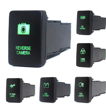 12V 3Amp לדחוף כפתור מתג ירוק LED אורות עם מחבר חוט עבור טויוטה 4 ראנר פראדו 150/200 סדרת טונדרה טקומה