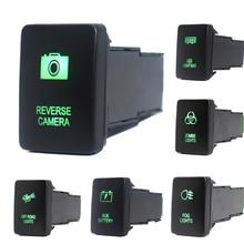 12V 3Amp Push Button Schalter Grün Led leuchten Mit Anschluss Draht Für Toyota 4Runner Prado 150/200 Serie Tundra tacoma