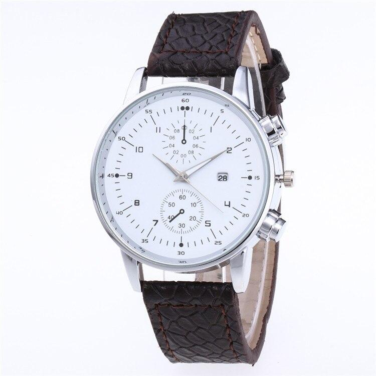 rosto olhos falsos cinco agulha relógios personalidade escala com calendário