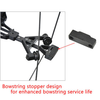 1set Archery 30-60lbs Adjustable Compound Bow Steel Ball Arrows Dual-purpose Pulley Bow 310FPS For Fishing Shooting Hunting Bow 3