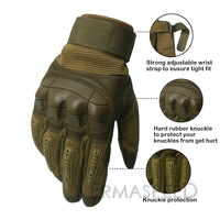 1 Pair Motorcycle Gloves Leather Tactical Military Full Finger Motocross Enduro Cycling Racing Riding Gloves for Dirt Bike Sport 3
