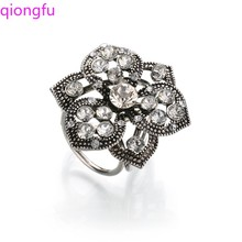 QIONGFU Women's Scarf Buckle Jewelry Brooch Crystal Buckle Flower Brooch Scarf Buckle Scarf Brooch qiongfu transparent rhinestone brooch flower brooch hollow camellia scarf buckle shawl buckle square scarf buckle