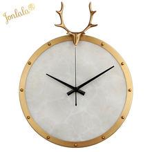 Креативные металлические подвесные часы в виде ракушки с оленем
