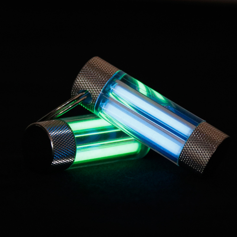 Double Tritium Key Ring Automatic Glow Self Luminous Gas Lamp Outdoor EDC Safety And Survival Tool