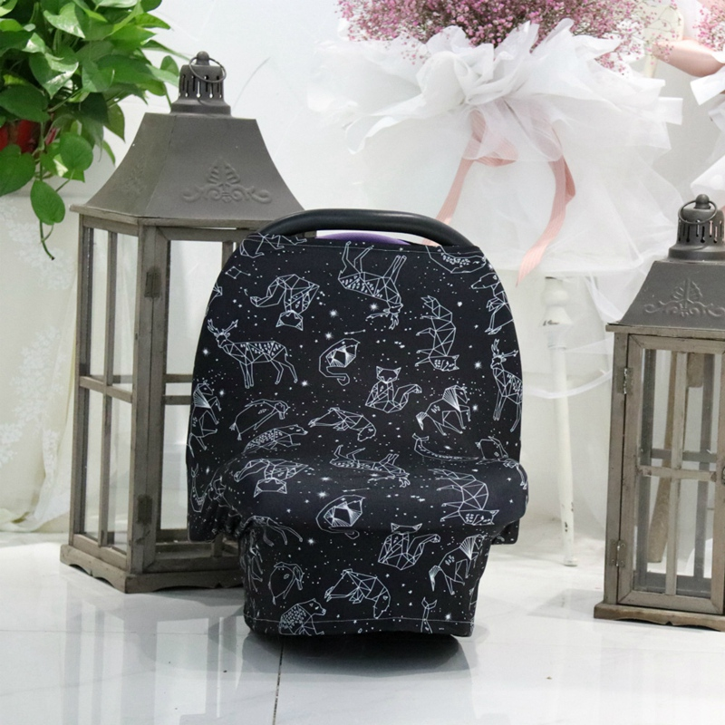 Nursing Cover & Baby Carseat Cover,Ultra Soft And Breathable,Large Full Coverage Breastfeeding Canopy Gives Privacy