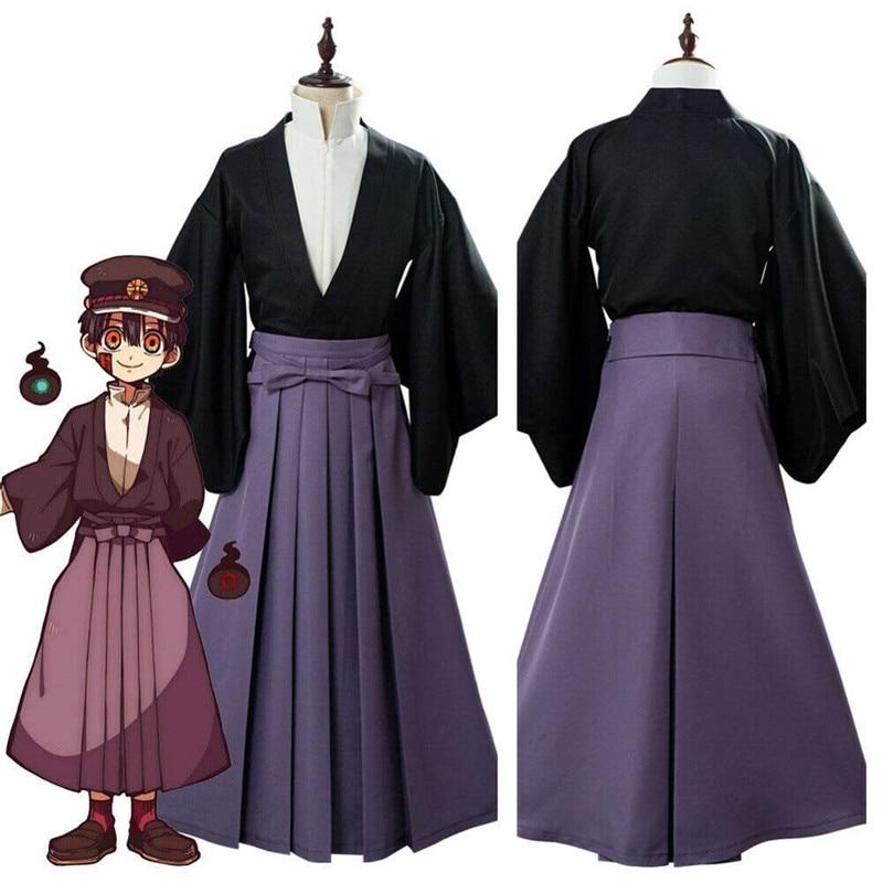 Toilet Bound Hanako Kun Cosplay Tsukasa Yugi Cosplay Costume Hakama Pants Samurai Kimono Set Kendo