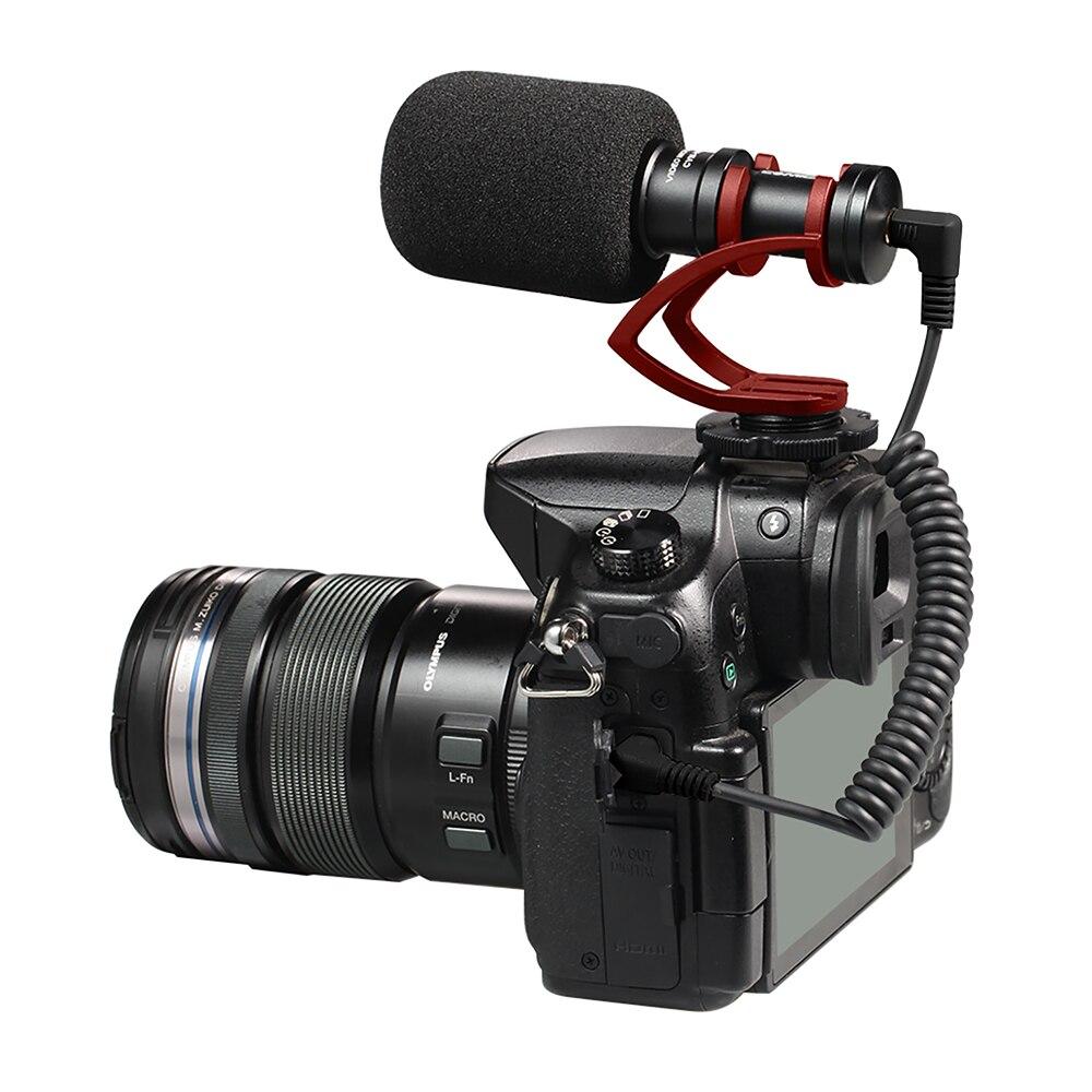 Comica CVM-VM10II micro d'enregistrement vidéo sur appareil photo/téléphone Microphone pour Canon Nikon Sony DSLR caméscope pour iPhone Samsung S9 S10 - 2