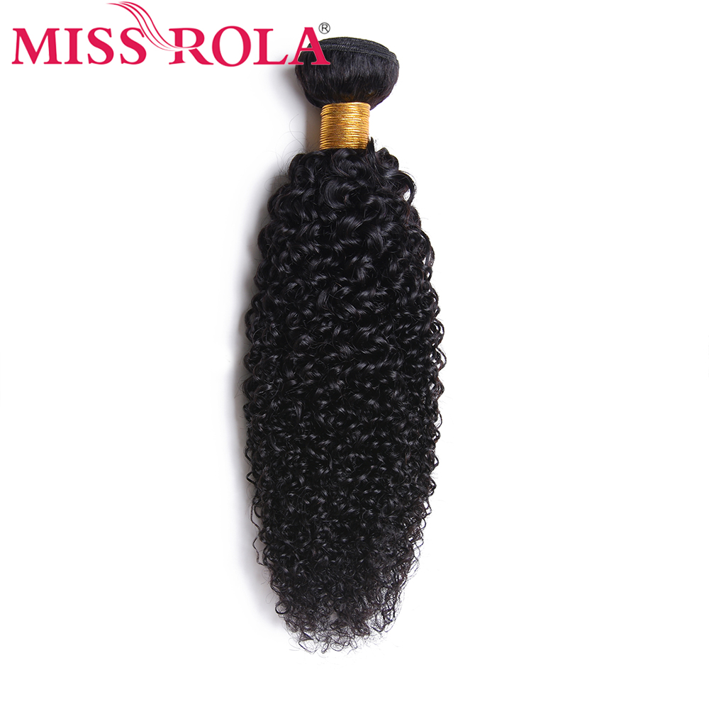 Miss Rola Brazilian Hair Kinky Curly Hair 100% Human Hair 8-28 Inches Natural Color Remy Hair Extension