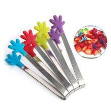 Креативные силиконовые зажимы-Щипцы для барбекю, противоскользящие зажимы для сахарного льда из нержавеющей стали, мини-зажим для выпечки, зажимы для салата, кухонные инструменты