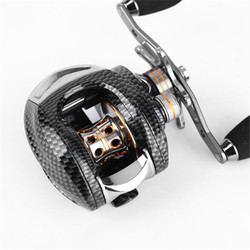 Snake skin high transmission ratio 6.3:1 left/right hand decoy wheel long throw wheel 13 + 1BB decoy line wheel bait casting
