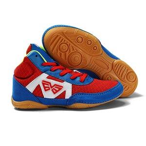 Zapatos de lucha para chico, zapatos de boxeo, zapatos deportivos multiusos, talla 32-38 para lucha libre