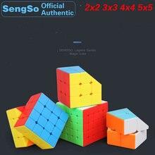ShengShou Legend 2x2x2 3x3x3 4x4x4 5x5x5 Magic Cube SengSo Stickerless 2x2 3x3 4x4 5x5 Speed Puzzle Brain Teaser Educational Toy 3x3x3 brain teaser magic iq cube