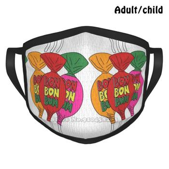 Bon Bon Bum Colombia Candy Anti Dust Reusable Diy Face Mask Bon Bum Bon Bon Bum Candy Dulce Colombia Colombiano image