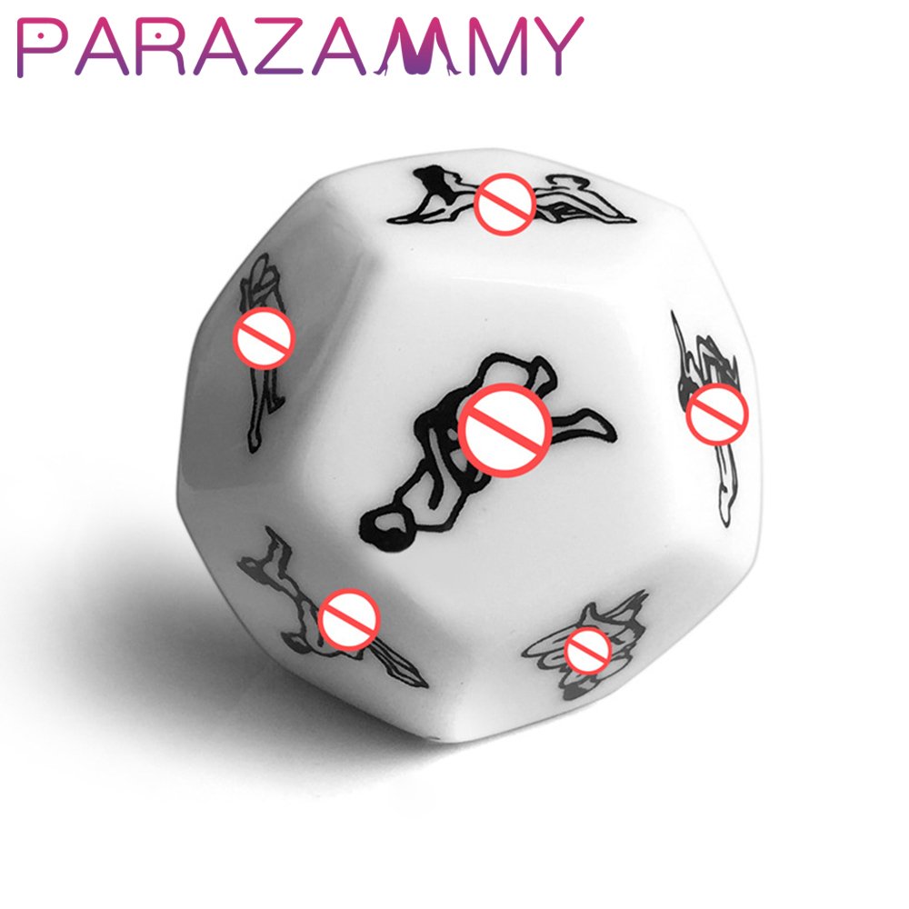 Sex Toy For Couple Adult Game Funny Sex Dice 12 Sides Sex Romance Love Humour Gambling 2.5cm Erotic Craps Pipe Luminous Sex Shop