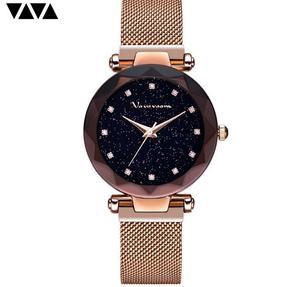 Image 5 - แฟชั่นนาฬิกาข้อมือสแตนเลสRose Goldกันน้ำสุภาพสตรีแม่เหล็กนาฬิกาควอตซ์ 2019 Relogio Femininoของขวัญ
