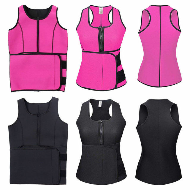 Unisex Men Women Lady Neoprene Corset Tummy Waist Trainer Vest Tank Workout Slimming Shapewear Sweat Belly Belt Body Shaper 2