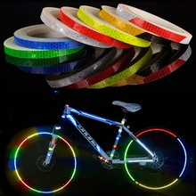 Reflective Tape Bicycle Stickers Decals Fluorescent Bike Wheel Strip Adhesive Safety Cycling Warning BC0123